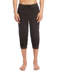 2xist Cropped Jogger Pajama Pants - Black
