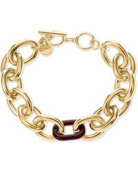 Alfani Colored Link Toggle Bracelet, Created For Macy's - Metallic