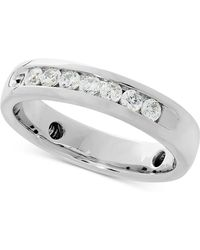 Macy's Lab Grown Diamond Band (1/2 Ct. T.w.) In 14k White Gold