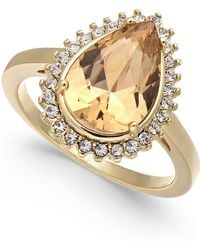 Charter Club - Gold-tone Crystal & Stone Ring, Created For Macy's - Lyst