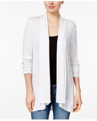 Style & Co. - Drape-front High-low-hem Cardigan - Lyst