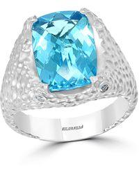 Effy - Effy® Blue Topaz (3-5/8 Ct. T.w.) Ring In Sterling Silver - Lyst