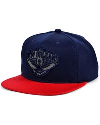 Mitchell & Ness New Orleans Pelicans 2 Team Reflective Snapback Cap - Blue