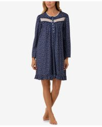 Eileen West - Printed Cotton Knit Nightgown - Lyst
