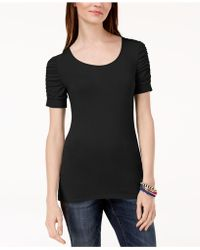 INC International Concepts - I.n.c. Ruched-sleeve T-shirt, Created For Macy's - Lyst
