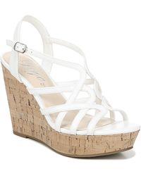 Fergie Villa Wedge Sandals - White