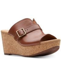Clarks - Annadel Holly Wedge Sandals - Lyst