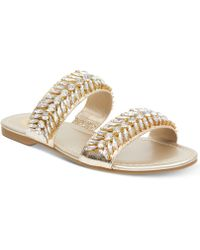 G by Guess - Luxeen Flat Sandals - Lyst