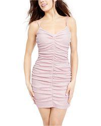 Jump Juniors' Shirred Metallic Dress - Pink