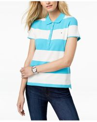 Tommy Hilfiger - Striped Piqué Polo Shirt - Lyst