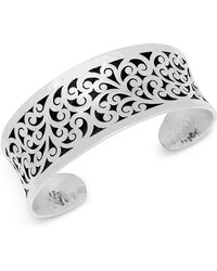 Lois Hill - Scroll Concave Cuff Bracelet In Sterling Silver - Lyst
