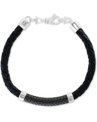 Effy Collection Leather Bracelet In Sterling Silver - Metallic