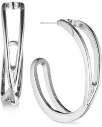 Nine West | Openwork J-hoop Earrings | Lyst