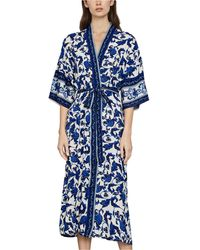 BCBGMAXAZRIA Floral-print Wrap - Blue