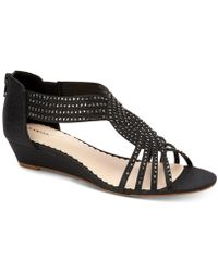 Charter Club Ginifur Wedge Sandals, Created For Macy's - Black