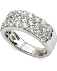 Marchesa - Diamond Three-row Band (2 Ct. T.w.) In 18k White Gold - Lyst