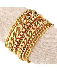 Nicole Miller Multi-chain Magnetic Bracelet - Metallic
