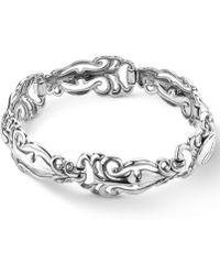 Carolyn Pollack - Polished Scroll Link Bracelet In Sterling Silver - Lyst