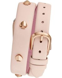 Kate Spade Blush Double-wrap Leather 38/40mm Band For Apple Watch® - Multicolor