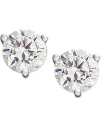 Macy's Near Colorless Certified Diamond Stud Earrings In 18k White Or Yellow Gold (1-1/4 Ct. T.w.) - Multicolour