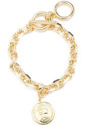 Zenzii Gold-tone Coin Charm Link Bracelet - Metallic