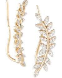 Wrapped in Love - Tm Diamond Ear Crawlers (1/5 Ct. T.w.) In 14k Gold, Created For Macy's - Lyst