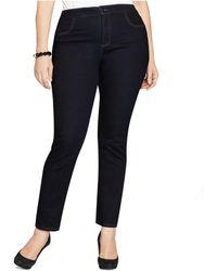 Style & Co. - Plus Size Tummy-control Straight Leg Jeans, Aged Indigo Wash - Lyst