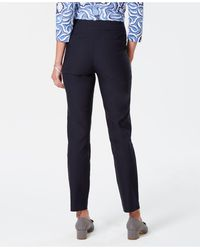 Charter Club Cambridge Skinny Pull-on Tummy-control Pants, Short Length, Created For Macy's - Blue