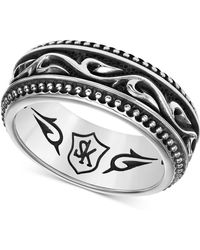 Scott Kay - Men's Engraved Band In Sterling Silver - Lyst