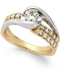 Sirena Diamond Two-row Engagement Ring In 14k Gold (7/8 Ct. T.w.) - Metallic