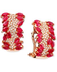 Effy Collection - Ruby (3-5/8 Ct. T.w.) And Diamond (1/2 Ct. T.w.) In 14k Rose Gold - Lyst