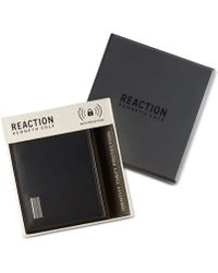 Kenneth Cole Reaction Men's Nappa Rfid Extra-capacity Slimfold Wallet - Black