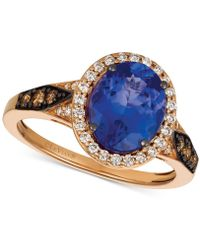 Le Vian - Blueberry Tanzanite® (2-1/2 Ct. T.w.) & Diamond (3/8 Ct. T.w.) Ring In 14k Rose Gold - Lyst