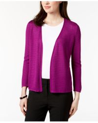 Alfani - Textured Ottoman-ribbed Cardigan, Created For Macy's - Lyst