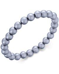 Charter Club - Silver-tone Gray Imitation Pearl Stretch Bracelet - Lyst