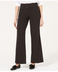 Style & Co. Stretch-jersey Wide-leg Pants  - Brown