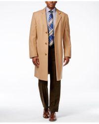 London Fog Signature Wool-blend Overcoat - Natural