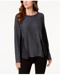 Style & Co. - Colorblocked Marled Top, Created For Macy's - Lyst