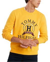 skør pris overlegen kvalitet på udsalg Tommy Hilfiger Cotton Men's Everest Logo Sweatshirt in Gray ...