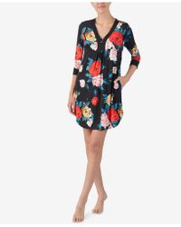 Ellen Tracy - Flower-print Short Caftan - Lyst