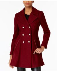 Laundry by Shelli Segal   Double-breasted Skirted Peacoat   Lyst