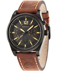 Timberland - Men's Brant Brown Leather Strap Watch 45x53mm Tbl14642jsb02 - Lyst