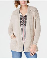 Style & Co. - Petite Pointelle-shoulder Cardigan, Created For Macy's - Lyst