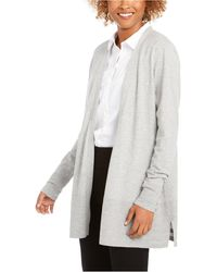 Charter Club Open-front Cardigan, Created For Macy's - Multicolor