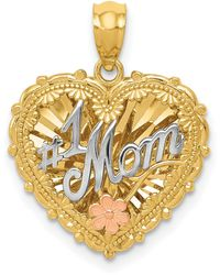 Macy's - #1 Mom Shadowbox Charm In 14k Yellow, White And Rose Gold - Lyst