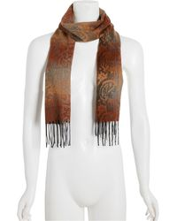 Steve Madden Mid Weight Ombré Paisley Muffler Scarf - Multicolor