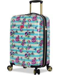 "Betsey Johnson - Hummingbird 20"" Hardside Expandable Carry-on Spinner Suitcase - Lyst"