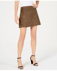 French Connection - Faux-suede Mini Skirt - Lyst
