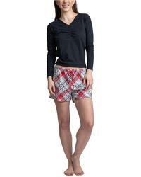 Muk Luks Top, Pants & Boxer Shorts 3pc Pajama Gift Set - Multicolor