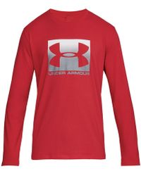 Under Armour - Charged Cotton® Long-sleeve Logo T-shirt - Lyst